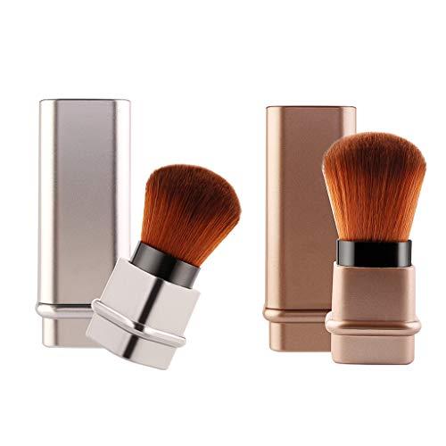 Fenteer 2 Stk Einziehbarer Synthetik-Haar Pinsel für Make-Up Puder Blush Foundation Kosmetik Kabuki...