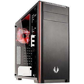 BitFenix Nova TG Black computer case - Computer Cases (PC, Plastic, Steel, Tempered glass, ATX,Micro-ATX,Mini-ITX, Black, Gaming, 16 cm)