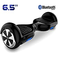 "Cool&Fun 6.5"" Balance Board Patinete Eléctrico Scooter Talla LED 350W*2 Bluetooth (Black-Black)"