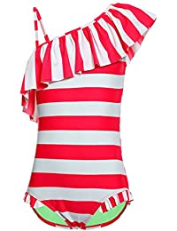 1a61760f60 iDrawl Girls Unicorn One Piece Swimsuit Kids Cute Colorful Swimming Costume  Bathing Suit Age 4-