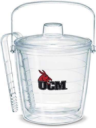 Tervis 1062949 Central Missouri Mules Logo Ice Bucket with Emblem and Clear Lid 87oz Ice Bucket, Clear Clear Mule