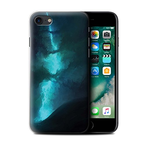 Offiziell Chris Cold Hülle / Case für Apple iPhone 7 / Chaos Entfesselt Muster / Fremden Welt Kosmos Kollektion Elektro-Sturm