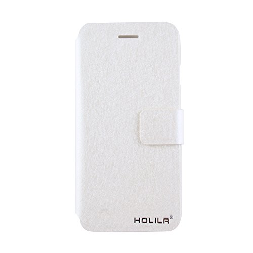 Eleoption® Étui de protection en cuir pour smartphone avec fonction support et porte-cartes, Champagner-Rosa, iPhone 6/6S blanc