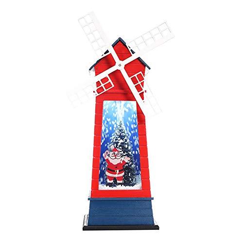 Mmtc decorazioni natalizie natale neve musica mini mulino a vento festival set decorazione puntelli,1
