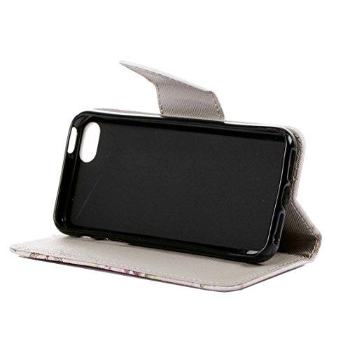 AYASHO® iPhone SE / 5s / 5 Hülle - Hohe Qualität Gemalt PU Kunst Lederhülle Tasche Hülle Kunstleder Flip Case Tasche Etui Schutzhülle für iPhone SE / iPhone 5 / iPhone 5S (A13) A06