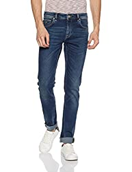 Indian Terrain Mens Slim Fit Jeans (8907633089636_CORE-ITDND049-Dk Wash-34)