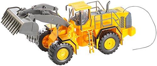 RC Auto kaufen Baufahrzeug Bild: Playtastic RC Bagger: Funk-ferngesteuerter Radlader (RC Radlader)*