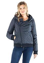 Sublevel Damen Winter-Jacke mit Kapuze warm gefüttert Blue L