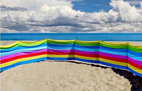 123home24.com Windschutz Windbreaker Windstopper Sichtschutz für Strand Camping Garten 6m 600cm Versand 24h
