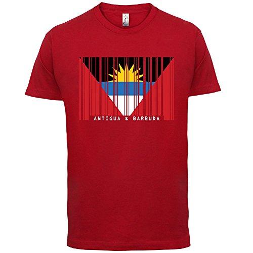 Antigua and Barbuda / Antigua und Barbuda Barcode Flagge - Herren T-Shirt - 13 Farben Rot