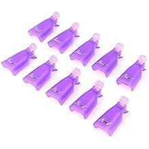 Hrph 10pcs Wearable Acrylnagel -Clip Nagellackentferner Plastiknagel -Kunst-Soaker Caps Clip UV Gel Werkzeug Resurrection Clip