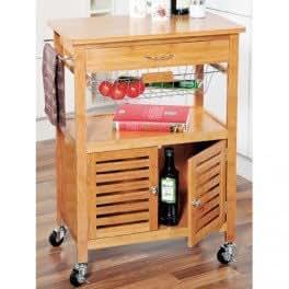 desserte de cuisine roulette en bambou cuisine maison. Black Bedroom Furniture Sets. Home Design Ideas