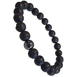 Young & Forever Divine Spiritual Unisex Men, Women Lava Beads Hematite Beads Bracelet Healing Energy Stone Reiki Bracelet Gemstone Bracelet