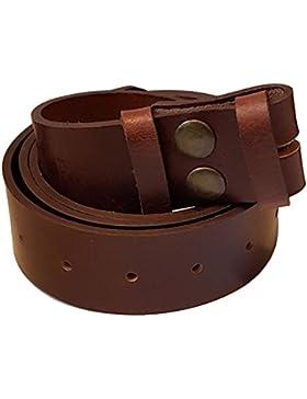 Bucklebox–Cinturón de piel con hebilla cierre por botón presión para extraíble