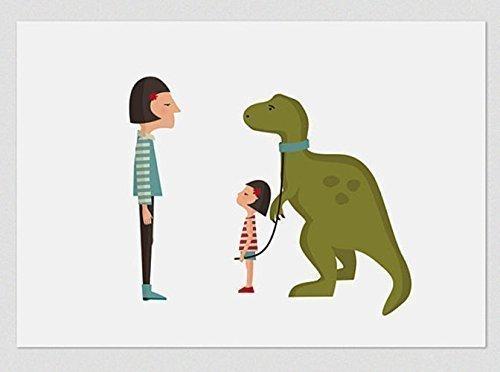 Dino. Ilustración, print, lámina (disponible medidas A4 / A3)