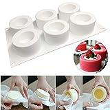 JF Room Silikon Formen Pudding Cupcake Kuchen Dekorieren Tools Backformen Mousse für Eiscreme Mold Kuchenform Geeignet für Geschirrspüler, Backofen, Mikrowelle, Kühlschrank