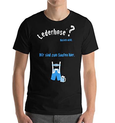 TK Gruppe Timo Klingler Tshirt T-Shirt Shirt schwarz lustig Herren Oktoberfest Dirndl Spruch Wiesn ALS Alternative zu Hemd ALS Accessoires(XL)