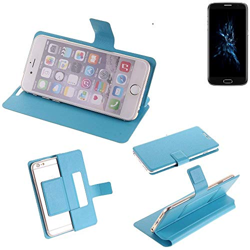 K-S-Trade Flipcover für Bluboo Edge Schutz Hülle Schutzhülle Flip Cover Handy case Smartphone Handyhülle blau