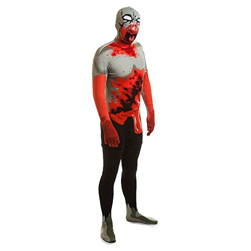(Rubies 2nd Skin Zombie Jumpsuit (White/Black/Red))