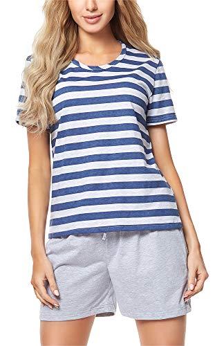 Merry Style Damen Schlafanzug MS10-177 (Melange/Jeans, L) -