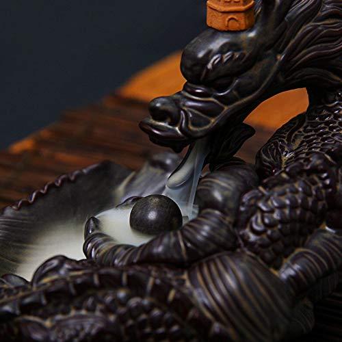 yzybz Keramik Drachen Weihrauch Brenner Rückfluss Von Rauch Wie Fließendes Wasser Federn Weihrauch Kegelhalter Home Decor + 10 Kegel -