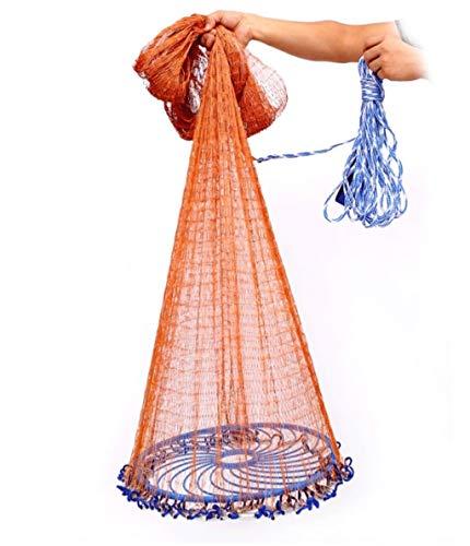 Deko Fischernetz, Angeln Netze Spiel Outdoor Teich Dekoration Fischernetz Runde Scheibe Werfen Net Automatische Einfach Zu Werfen Net Tragbare Angelwerkzeug Spiel Wasserspaß Spielzeug für Kinder