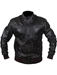F&H Men's Bomber Fashion Biker Jacket