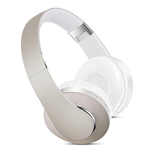 XHKCYOEJ Computer mit Stereokopfhörern/Bluetooth /Kopfhörer/Kopfhörer /Drahtlos/Plug-in/Headset /Stirnband, Champagner Gold (Stirnband Champagner)