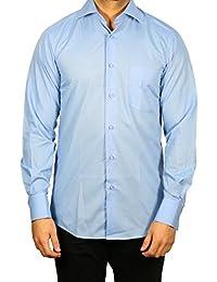Muga chemise manches longues, Bleu moyen