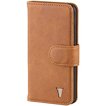 another chance e8544 b8418 TORRO Premium Leather Case compatible with iPhone SE. Genuine USA Tan  Leather Wallet Case for iPhone SE, iPhone 5S and iPhone 5 - Tan