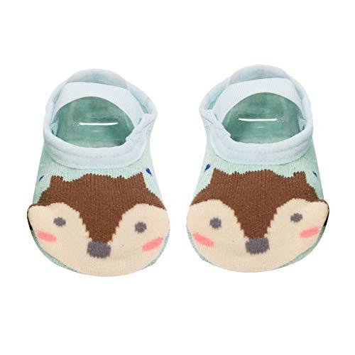 Fenverk Anti Slip Baby Socks Kids First Aid Toddler Non-Slip Cotton Antirutsch Socken Jungen MäDchen Rutschfest Kleinkind Dicke Baumwolle Niedlich Tier,0-3 Jahre