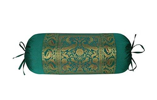 Lalhaveli 2Stück Seide Nackenrolle Kissen Fällen für Dekoration und Couch/Bett/Sofa Decor 76x 38cm (Seide, Bett, Kissen)