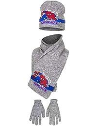 Echarpe, bonnet et gants enfant garçon Spider-man 3 coloris de 3 à 9ans eccadc735e1