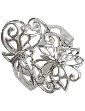 Chic-Net Silberring filigran Schmetterlinge Ring 925er Sterling Silber Damen Ringe Schmuck
