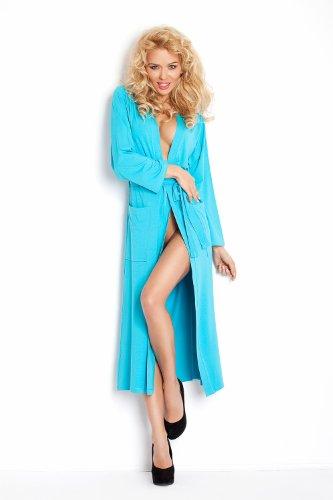 Lady-Mode Morgenmantel aus Viskose Viki (XS - 2XL) Türkis