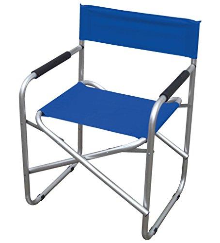 Garden friend sedia regista in alluminio e pvc 600d colore blu.