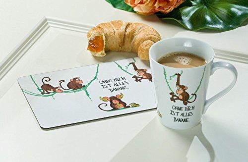 Gilde Schneidebrettchen Frühstücksbrettchen Affenbande Ohne Dich ist alles Banane 23 x 14 cm