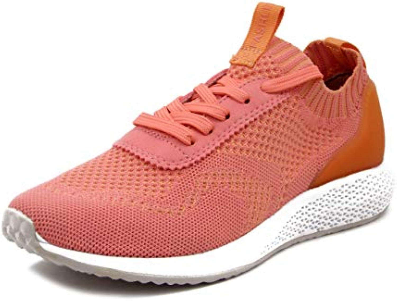 Tamaris, Tamaris, Tamaris, Scarpe Donna Sportive scarpe da ginnastica in Tessuto Elasticizzato Rosso Corallo, Plantare Estraibile, 23714 | Alla Moda  | Maschio/Ragazze Scarpa  ea56ee