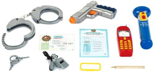 Taschenlampe Kleine Polizei (Theo Klein 8800 - Polizei-Set mit Wasserpistole, 10-teilig)