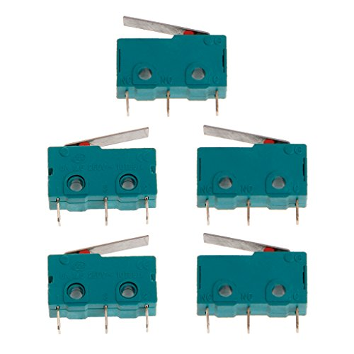 JENOR 5 Stücke Wegschalter Endschalter 3 Pin N/O N/C 5A 250 V Mikroschalter KW4-3Z-3