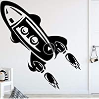 Zlxzlx Rocket Height Vinyl Wall Sticker for Kids Livingroom Growth Chart Height Measure for Children E PVC Wall Decals Poster 56 * 64Cm
