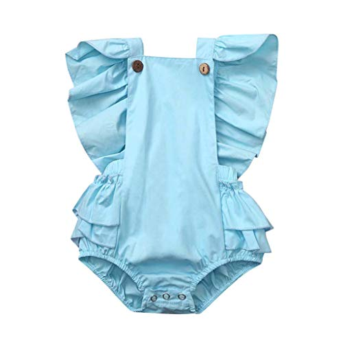 Frühchen Strampler Newborn Infant Girl Sleeveless Solid Romper Ruffle Bodysuit Outfits