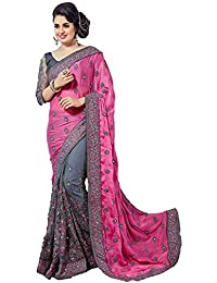 Arohi Designer Women's Georgette Saree With Unstitched Blouse Piece.