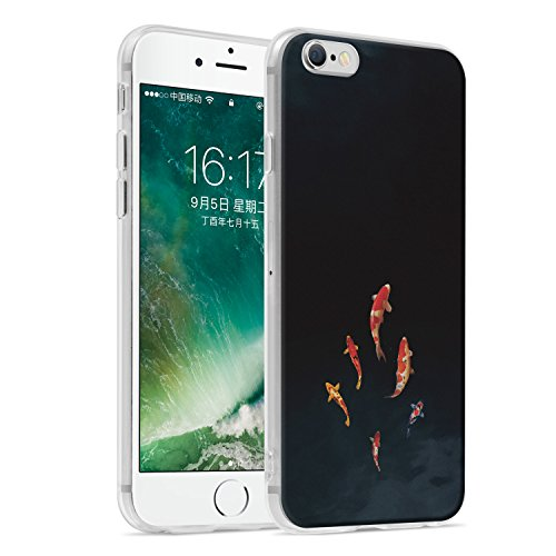 Ayotu iPhone 6 Plus Case/iPhone 6s Plus Case,Ultra Light Slim Case with Anti-Scratch Shockproof Bumper Soft TPU Silicone Frame Protective Phone Case Cover Skin for Apple iPhone 6 Plus / 6s Plus (5.5 i The Carp-01