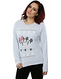 Disney Femme Mickey And Minnie Mouse Christmas Sweat-Shirt 2297eba5e917