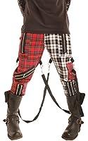 Phaze Unisex Punk Two Tone Tartan Bondage Trousers