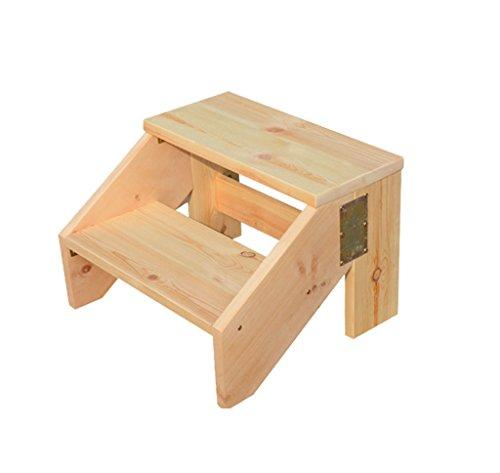 HCJTD Stufenhocker, Stufenhölzer aus massivem Holz Stufenhocker für den Innenbereich Multifunktions-Schuhhocker