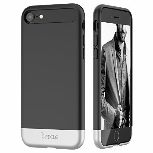 """iSPECLE iPhone 7 Hülle 4.7"""", abziehbare und partial gleitende Handyhülle aus PC+ TPU– mit iPhone 7 kompatibel – ohne auf die Optik zu verzichten (in schwarz)"""