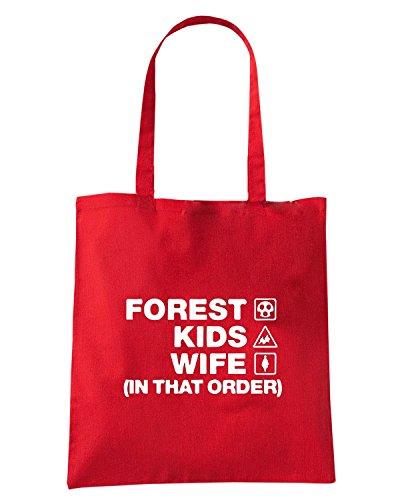 T-Shirtshock - Borsa Shopping WC1231 forest-kids-wife-order-tshirt design Rosso