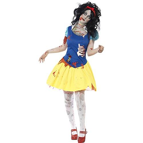 NET TOYS Zombie Schneewittchen Kostüm Prinzessin Halloweenkostüm M 40/42 Zombiekostüm Halloween Damenkostüm Horror Kostüme - Zombie Prinzessin Kostüm